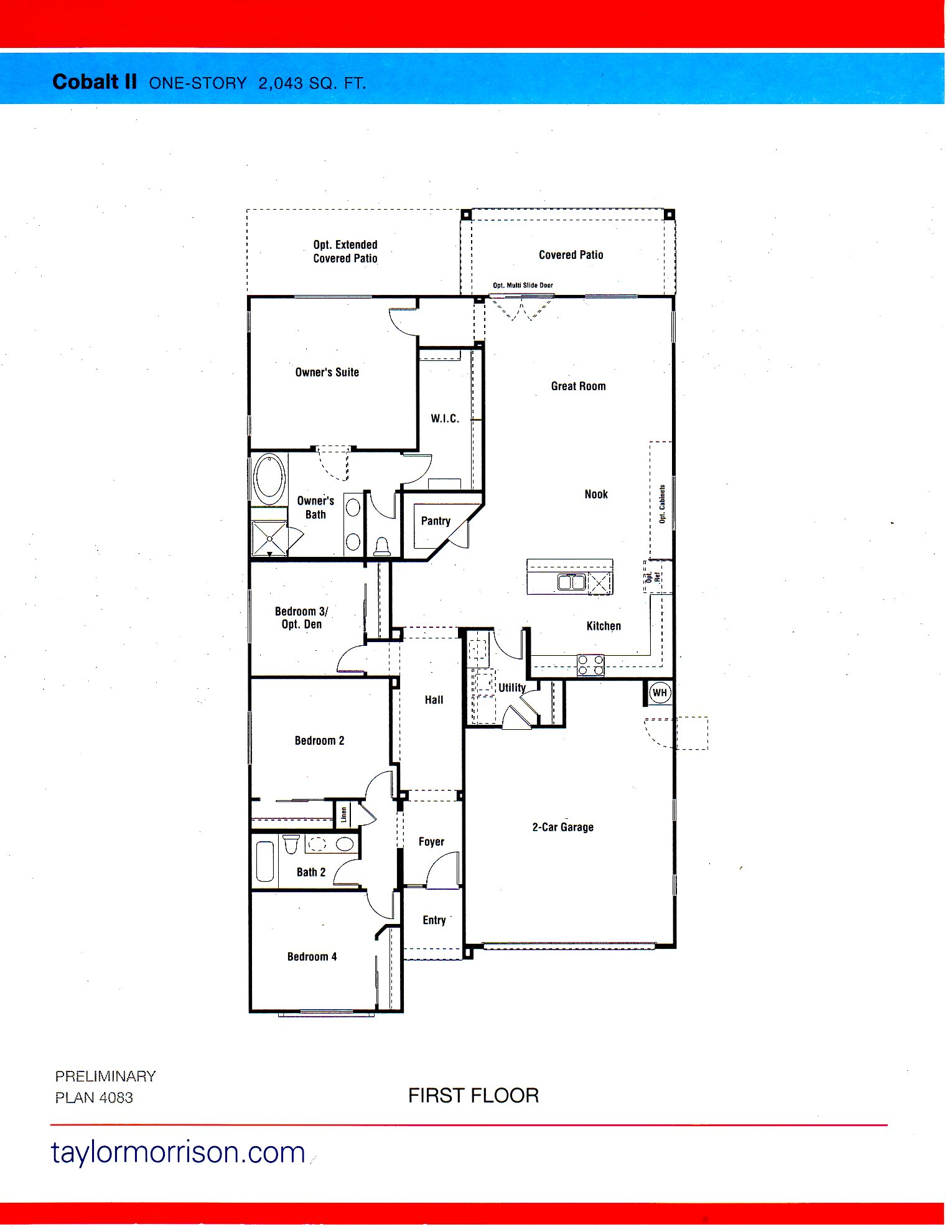 New Homes For Sale Goodyear Las Brisas Encore Collection TAYLOR – Morrison Homes Floor Plans