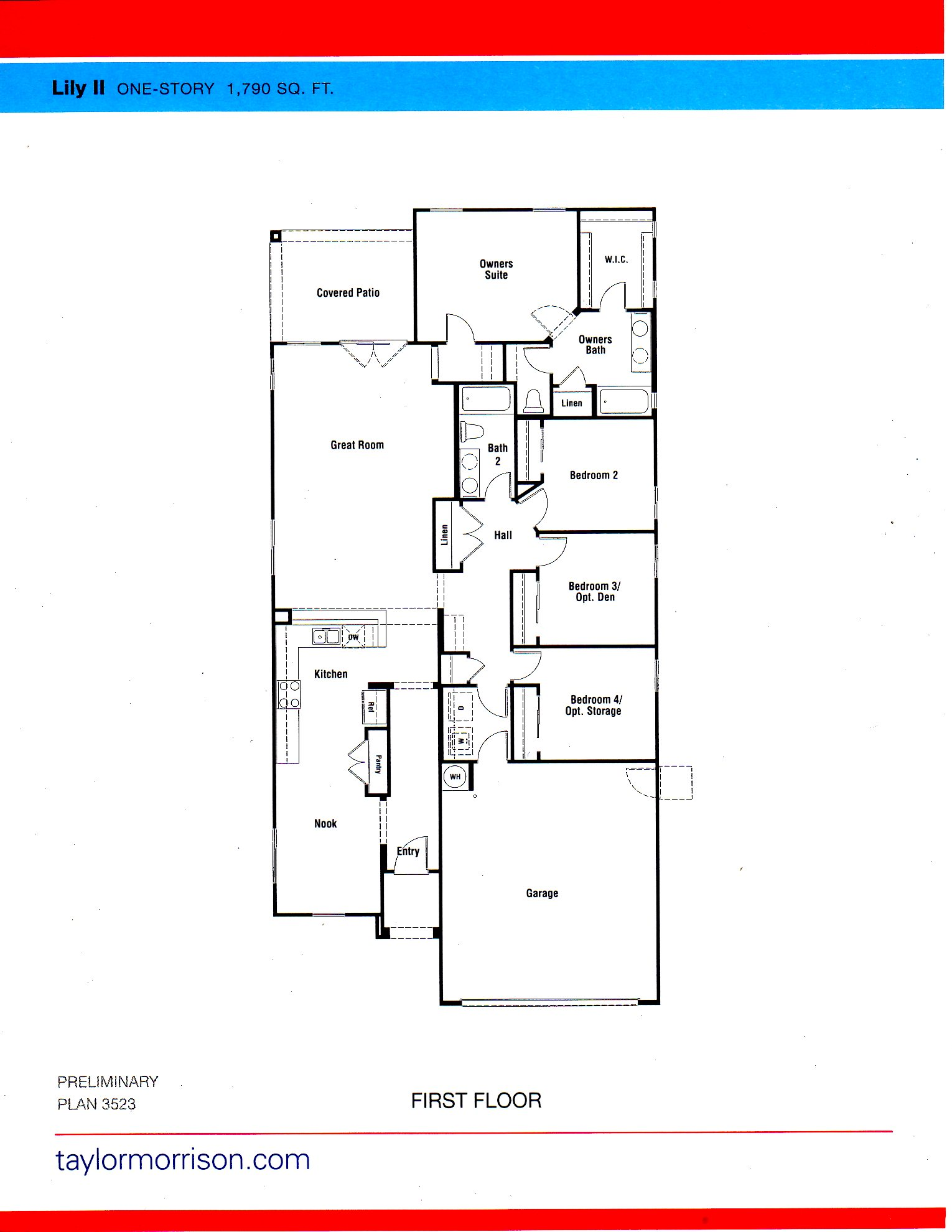 New Homes For Sale Goodyear Las Brisas Discovery Collection – Morrison Homes Floor Plans