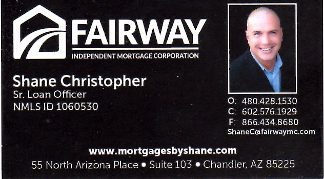 Shane Christopher - Fairway Independant Mortgage Corp.