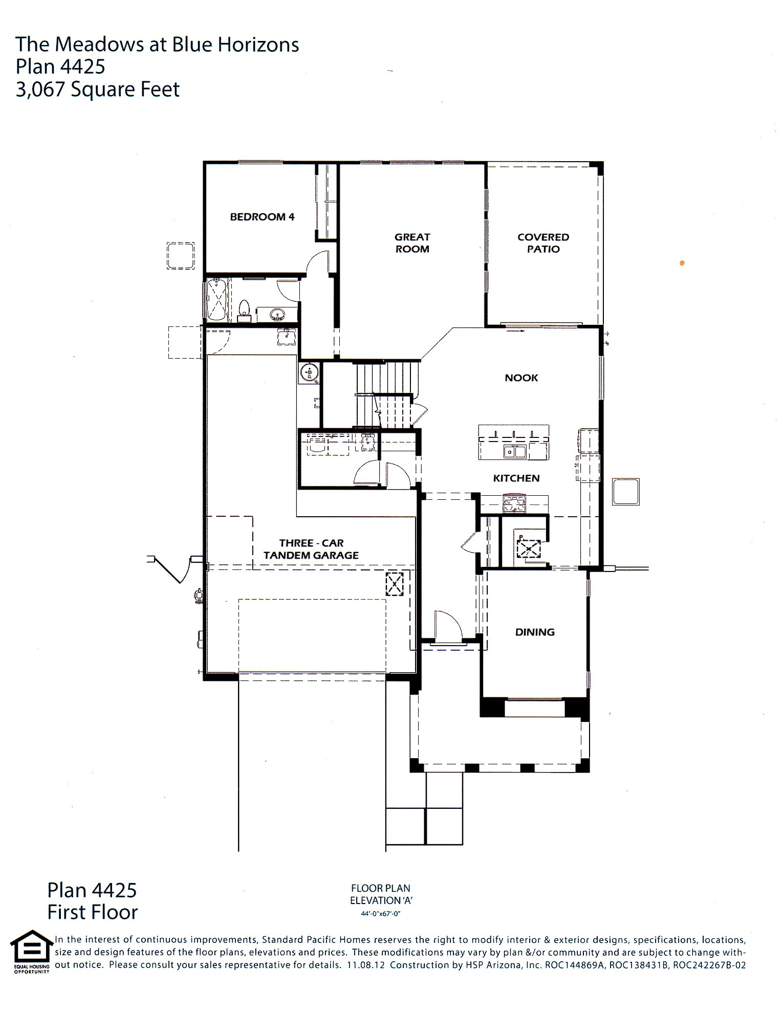 Standard pacific homes floor plans for Standard house plans