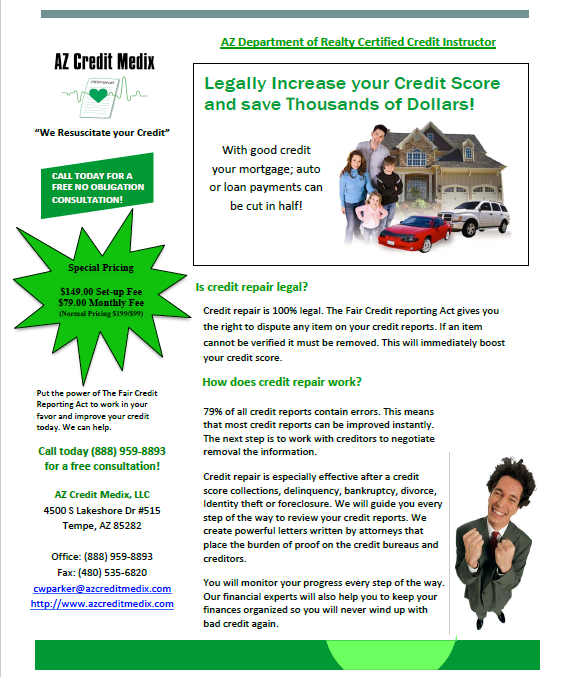 CREDIT REPAIR COUNSELING SERVICES