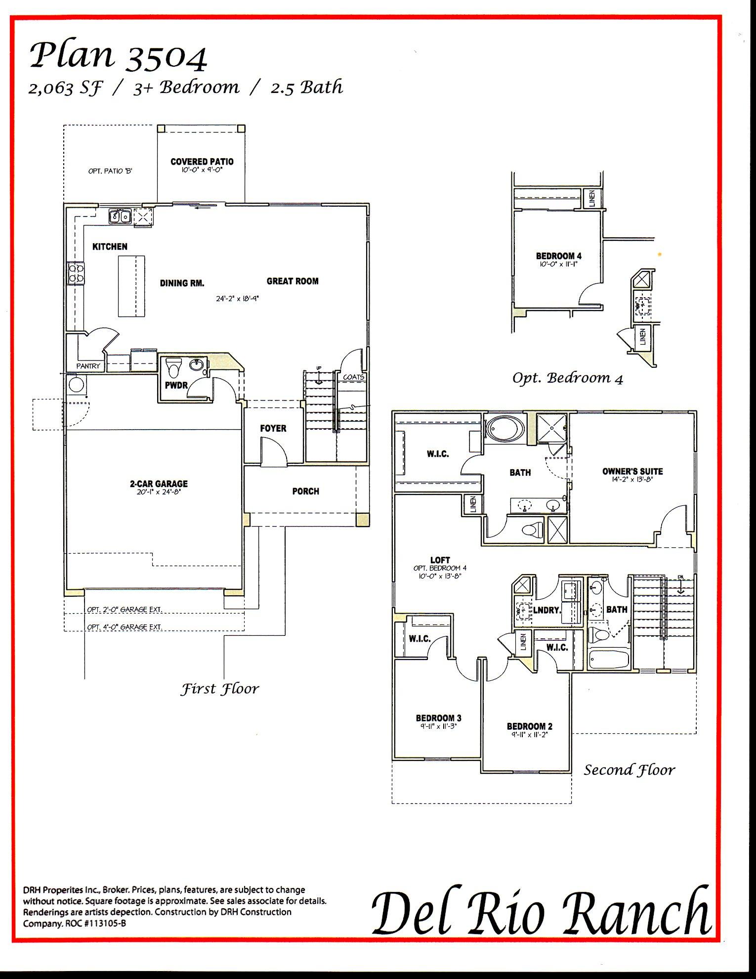 Dr Horton Payton Floor Plan Plans Maricopa Az