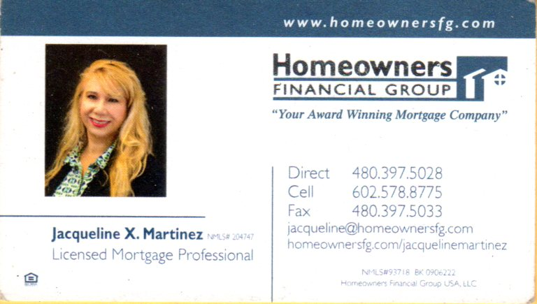 Jacqueline Martinez - Homeowners Financial Group -se habla espanol