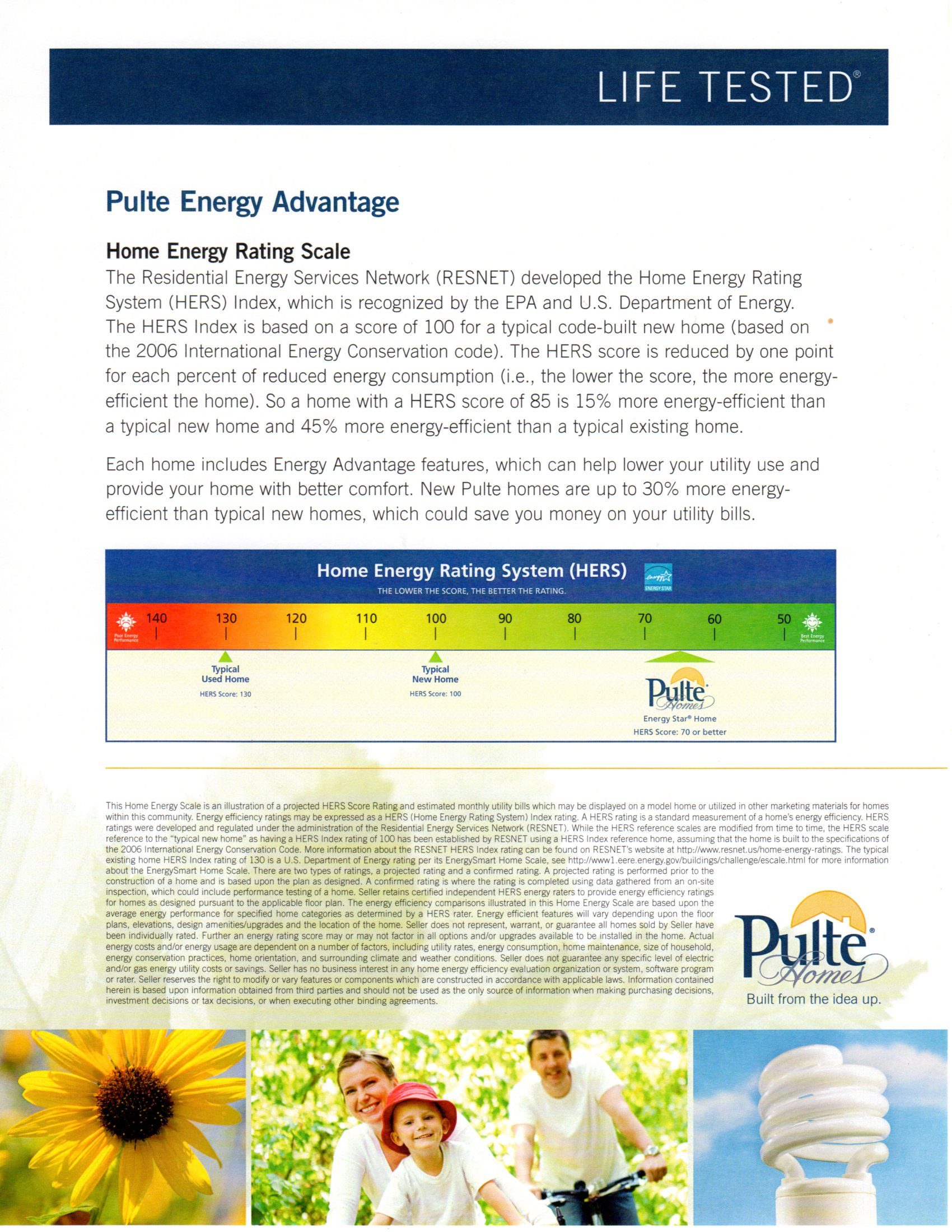 ENERGY RATING INFORMATION- ESTATE SERIES