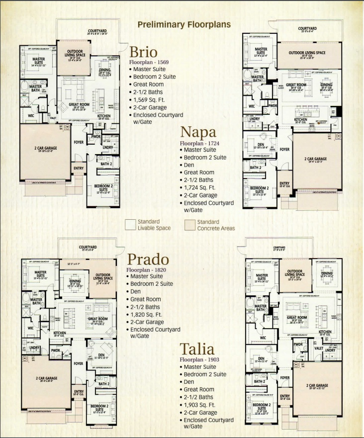 FLOORPLANS OF ALL 4 UNITS