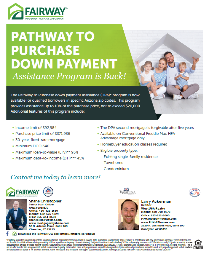 Newly Re-introduced  -- Pathway To Purchase Program